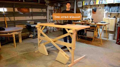 تصویر از آموزش کامل ساخت میز + ویدئو