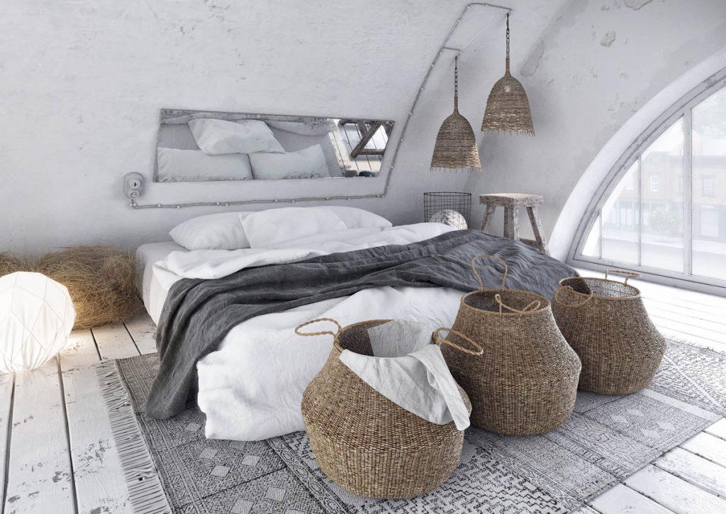 ست خواب خانه با طرح روستیکی