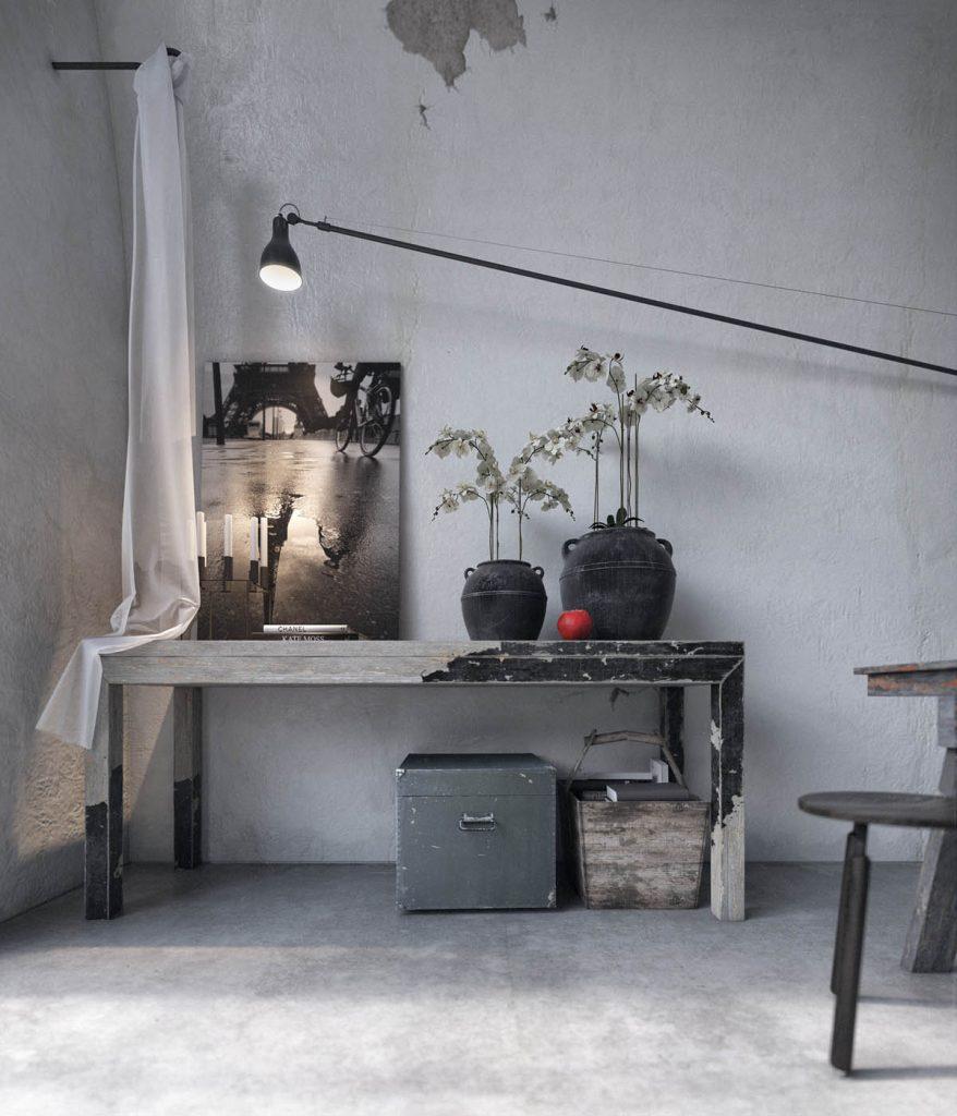 لامپ آویز بازو دار خانه به سبک روستیکی