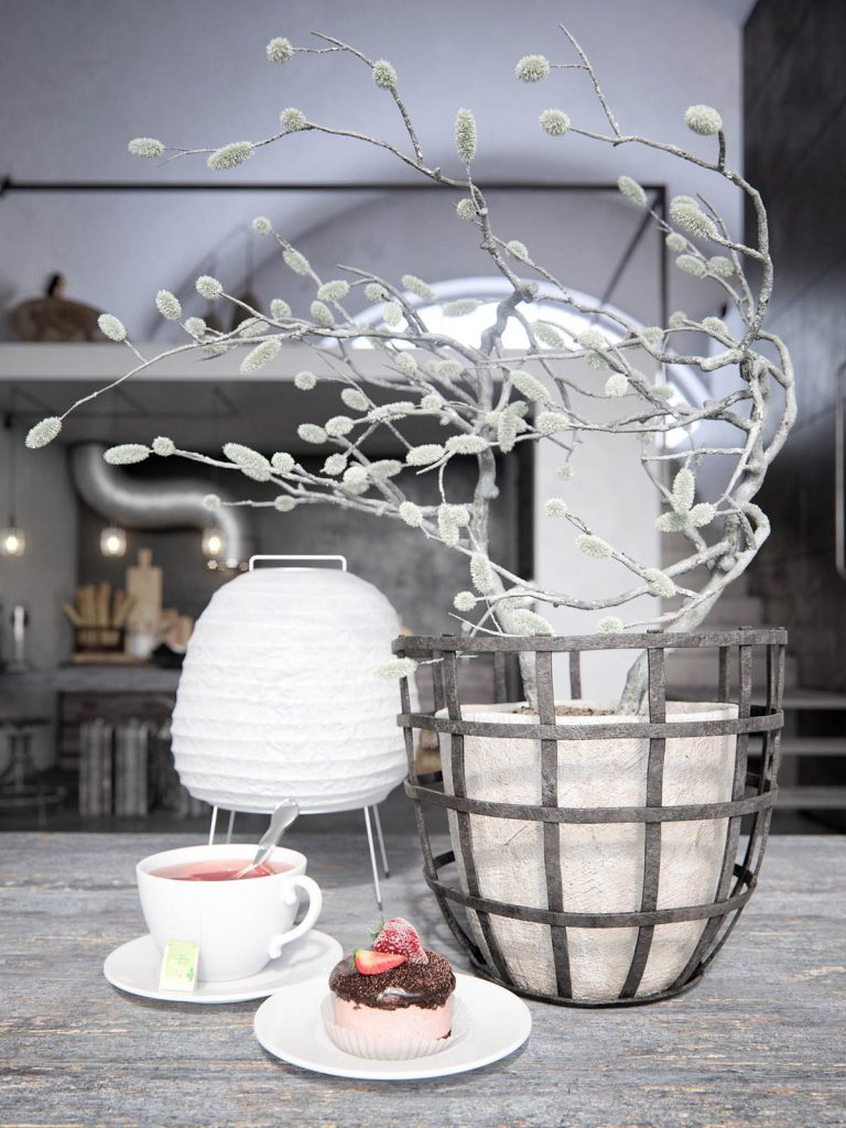 گلدان صنعتی خانه به سبک روستیک