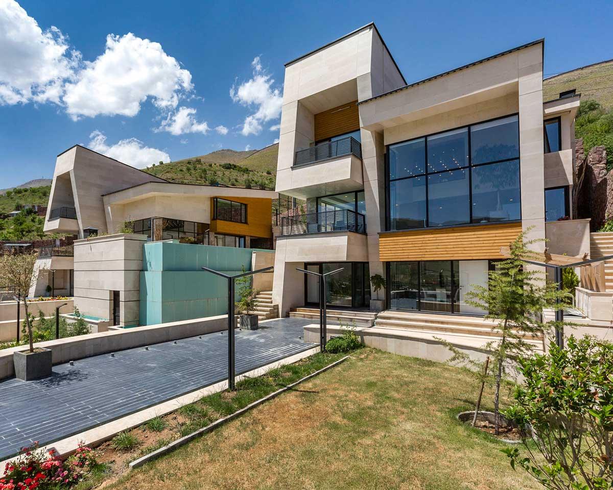 ویلای مسکونی مشا معماری مدرن طراحی داخلی شیک