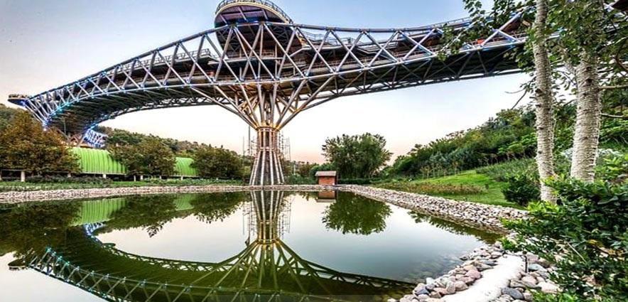 پل طبیعت لیلا عراقی پارک آب و آتش پارک طالقانی