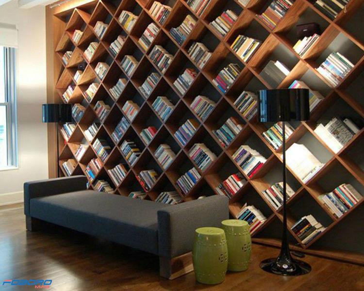 کتابخانه مدرن و متفاوت