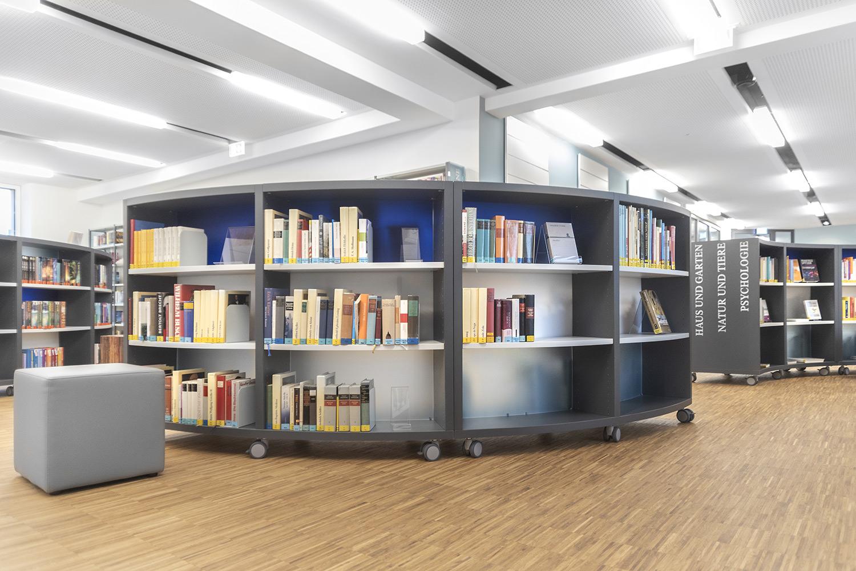 کتابخانه مدرن دو طرفه